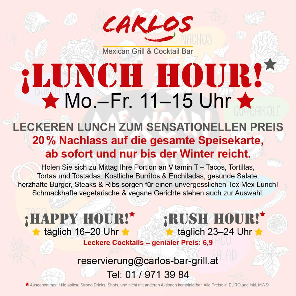 Carlos Bar & Grill, Mexikanisches Restaurant in Wien, Lugner City